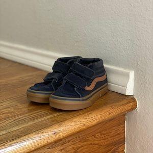 Kids Sk8-Mid Velcro (Dark Blue/Gum Sole)
